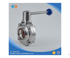 Stainless Steel Sanitary Butterfly Valves 3a Din Sms Iso