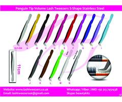 Professional Eyelash Extension Tweezers Semi Curved