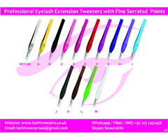 Professional Eyelash Extension Tweezers With Fine Serrated