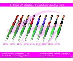 Doll Shape Professional Eyelash Extension Tweezers
