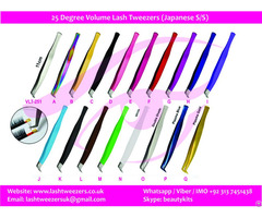 Degree Volume Lash Tweezers Japanese Stainless Steel