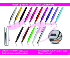 Parrot Tip Volume Lash Tweezers Curved Points