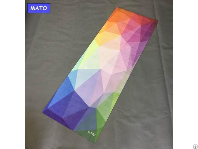 Non Slip Organic Folding Custom Printed Yoga Mat Manufacturer