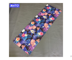 Custom Design Digital Sublimation Suede Microfiber Eco Friendly Yoga Mat Private Label