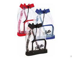 Promotional Transparent Backpack Portable Travel Drawstring Pouch Storage Bag