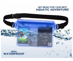 Dry Bag Waterproof Pouch With Waist Strap For Beach Swimming Boating Kayaking Fishing Hiking Camping