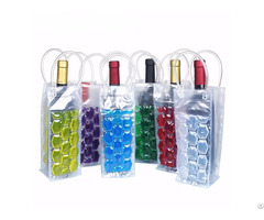 Cool Wine Bag With Four Sided Insulated Beverage Bags Durable Pvc Material And Freezable