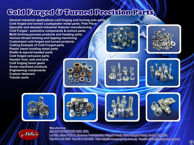 Cold Forged And Turned Auto Parts
