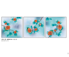 New Design Handmade Paint Flower Painting
