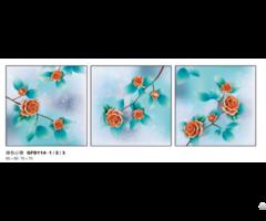 New Design Handmade Paint Flower Painting