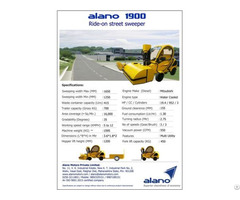Alano1900 Ride On Street Sweeper