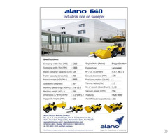 Alano 640 Ride On Industrial Sweeper
