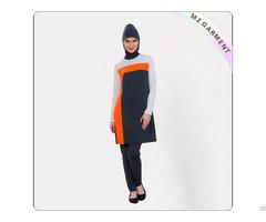 Orange Arab Style Swimsuit