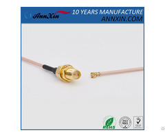 Rg178 Cable Assembly Rp Sma F And U Fl Ipex Mhf Connectors 6inches