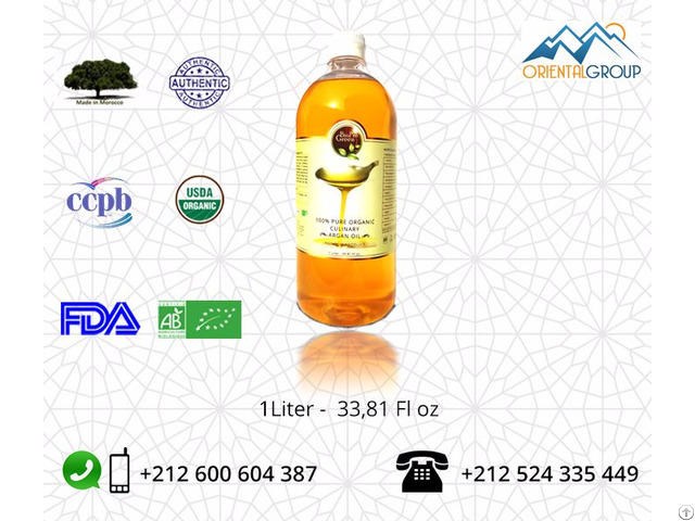 Organic Virgin And Toasted Argan Oil Culinary Cooking