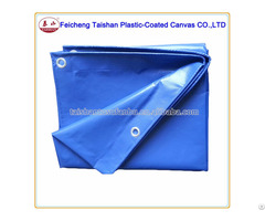 Waterproof Blue 300gsm Fireproof 100% Polyester Fabric Cover Pvc Tarpaulin