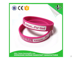 Fashion Cheap Custom Silicone Wristband