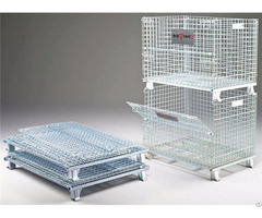 Collapsible And Stackable Wire Mesh Cages