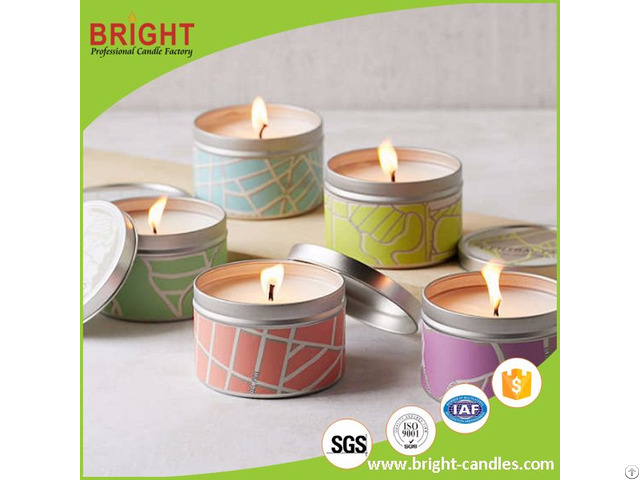 Hot Selling Outdoor Citronella Tin Candle