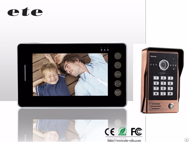 700tvline 7 Inch Lcd Video Door Phone Doorbell Bell Intercom System Support Cctv Camera