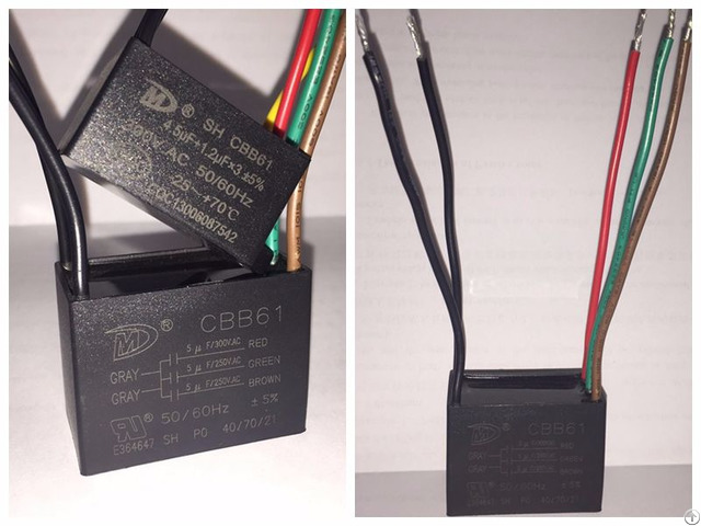 Cbb61 Motor Capacitor For Speed Adjustment With Ul Vde Cqc Tuv Certificate