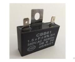 Single Twist Pin With Ear Self Healing Ac Motor Capacitor Cbb61