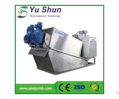 Big Capacity Screw Filter Press For Sewage Sludge Dewatering Process
