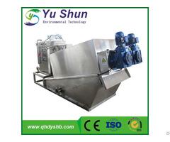 Sludge Dewatering System Stainless Steel Screw Type Filter Press