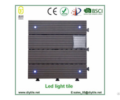 Outdoor Solar Light Wpc Interlocking Decking Tile