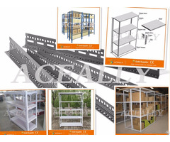 Warehouse Storage Slotted Angle Shelving Metal Shelf Library Rack