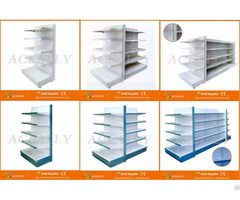 Double Single Sided Fixed Rotary Gondola Ends Supermarket Shelving