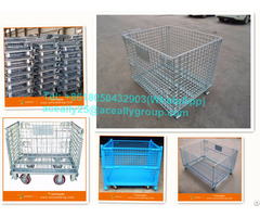 High Quality Folding Storage Metal Steel Cargo Used Wire Container For Sale