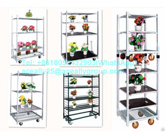 Manufecturing Display Transportation Cart Danish Flower Trolley