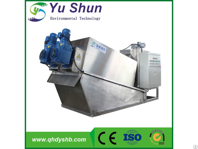Watewater Sludge Dewatering Machine Screw Filter Press