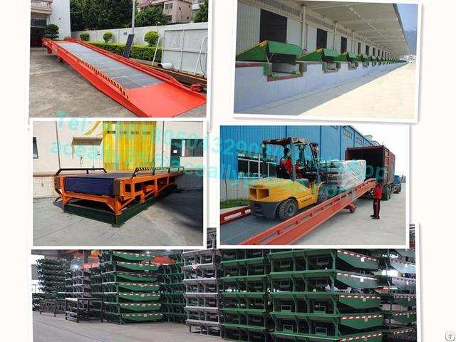 15t Capacity Dock Leveler Warehouse Forklift Aluminum Wheelchair Ramp