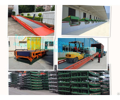 15t Capacity Dock Leveler Warehouse Forklift Aluminum Wheelchair Ramp