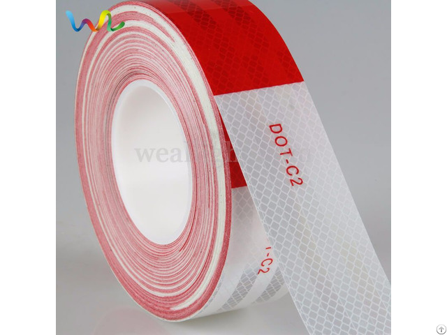 Dot C2 Reflective Tape For Trailers Red And White Yellow Orange