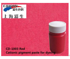 Cationic Pigment Color Paste Is Recognized