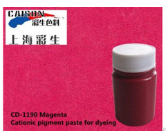 Key Point Of Cationic Pigment Paste Dyeing