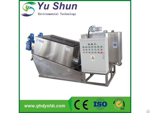 Automatic And Durablity Screw Sludge Dewatering Press