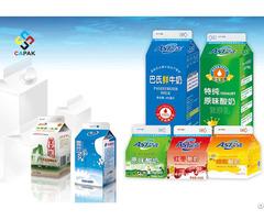 Milk Gable Top Aseptic Package Sleeve