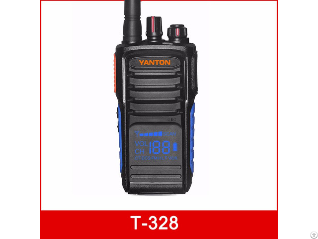 T 328 Hiddle Display 5w 199channels Uhf Vhf 1400mah Fm Transceiver