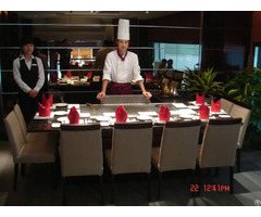 Rectangle Shape Teppanyaki Grill Table