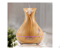 Wood Grian Finish Vase Ultrasonic Aromatherapy Essential Oil Diffuser
