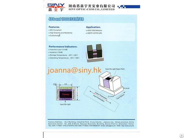 Flat Bottom Mount Free Space Optical Isolator Manufuacturer