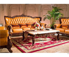 Yellow European Style Sofa Set Furniture