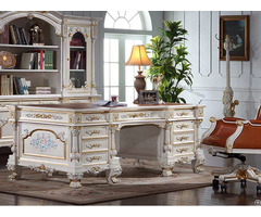 European Baroque Classical Study Desk Design Custom Manufacturers