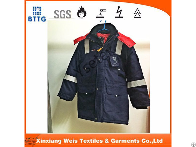 Flame Retardant Antistatic Winter Insulated Parka Jacket