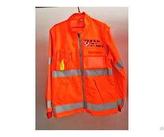 Hi Vis Jacket And Pants With Reflective Tape