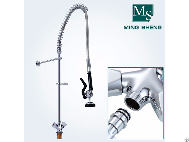 Wholesale Price Economical Deck Mount Commercial Kitchen Pre Rinse Unit Faucet Spray